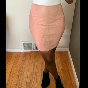 Dresses & Skirts - Pink Faux Leather Skirt